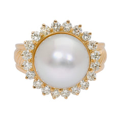 Ring- S.S. Pearl and Diamond