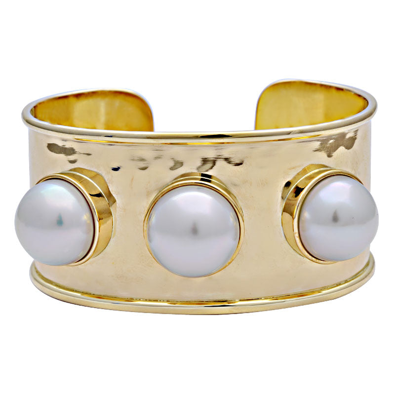 Cuff Bangle-South Sea Pearl