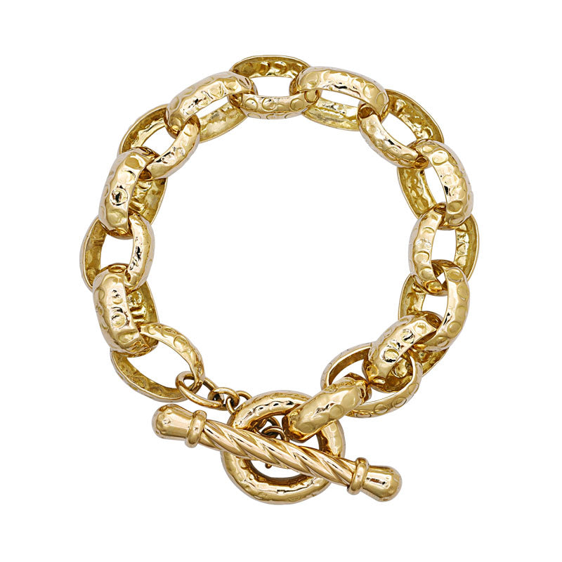 Toggle Bracelet-Plain Gold