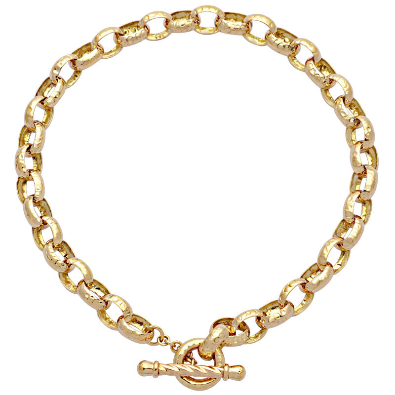 Toggle Necklace-Plain Gold
