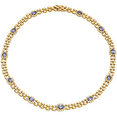 Necklace-Tanzanite and Diamond