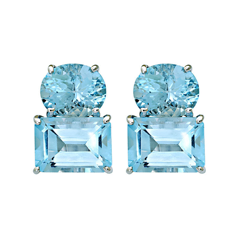 Earrings-Blue Topaz