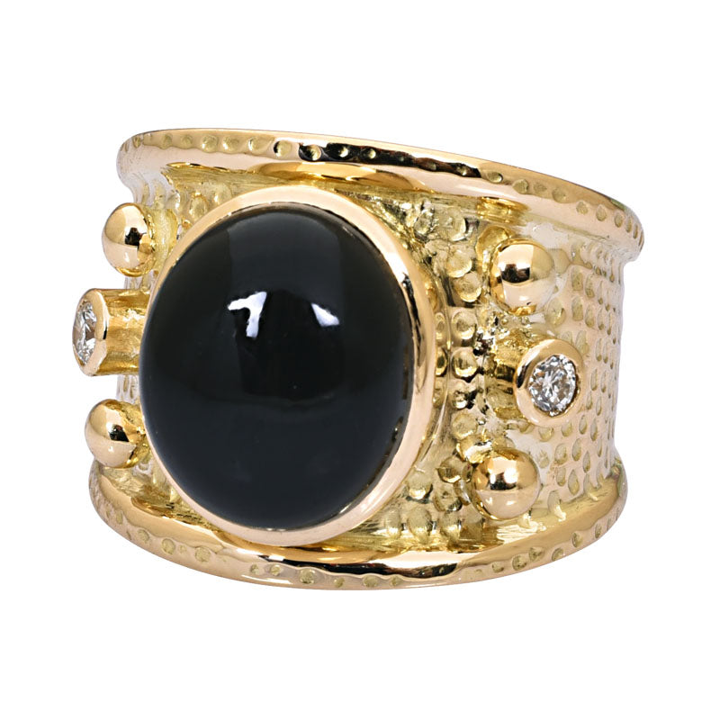 Ring-Black Onyx and Diamond