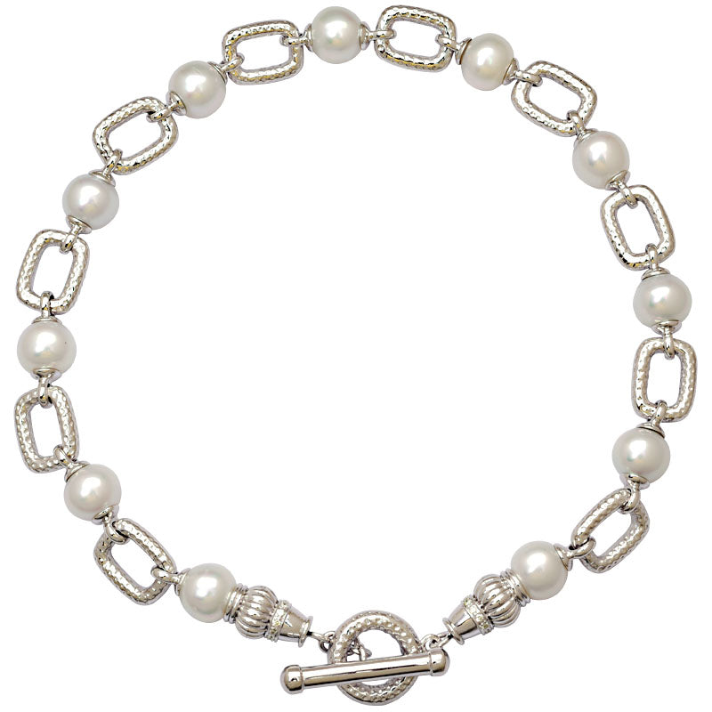 Toggle Necklace-South Sea Pearl and Diamond