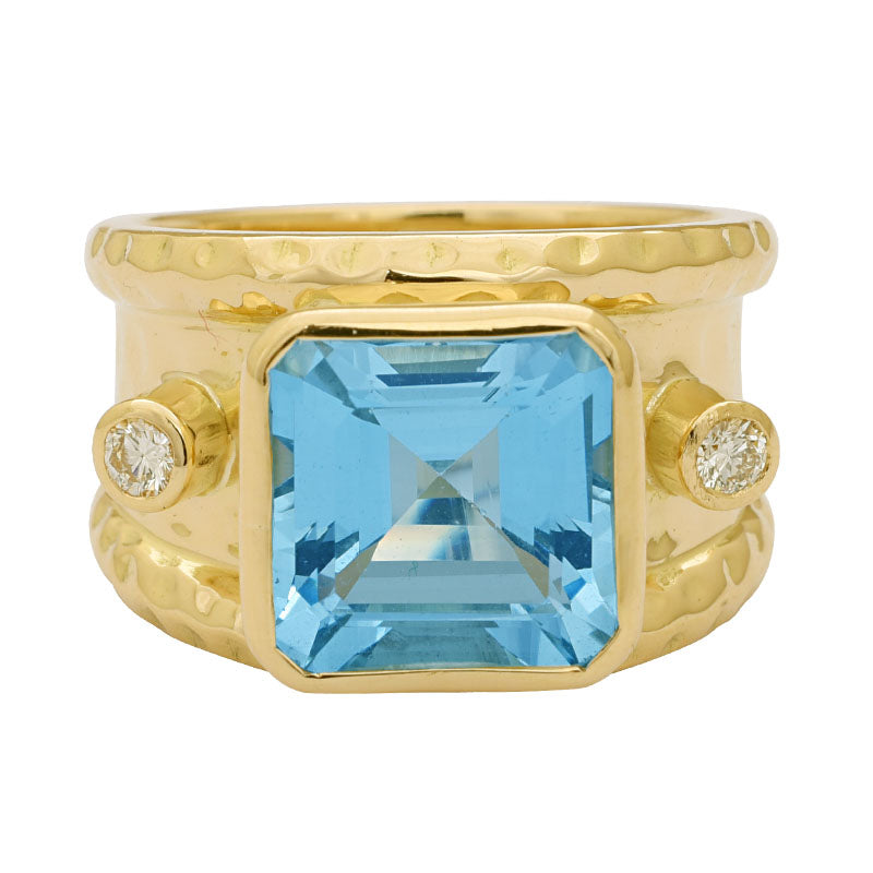Ring-Aquamarine and Diamond