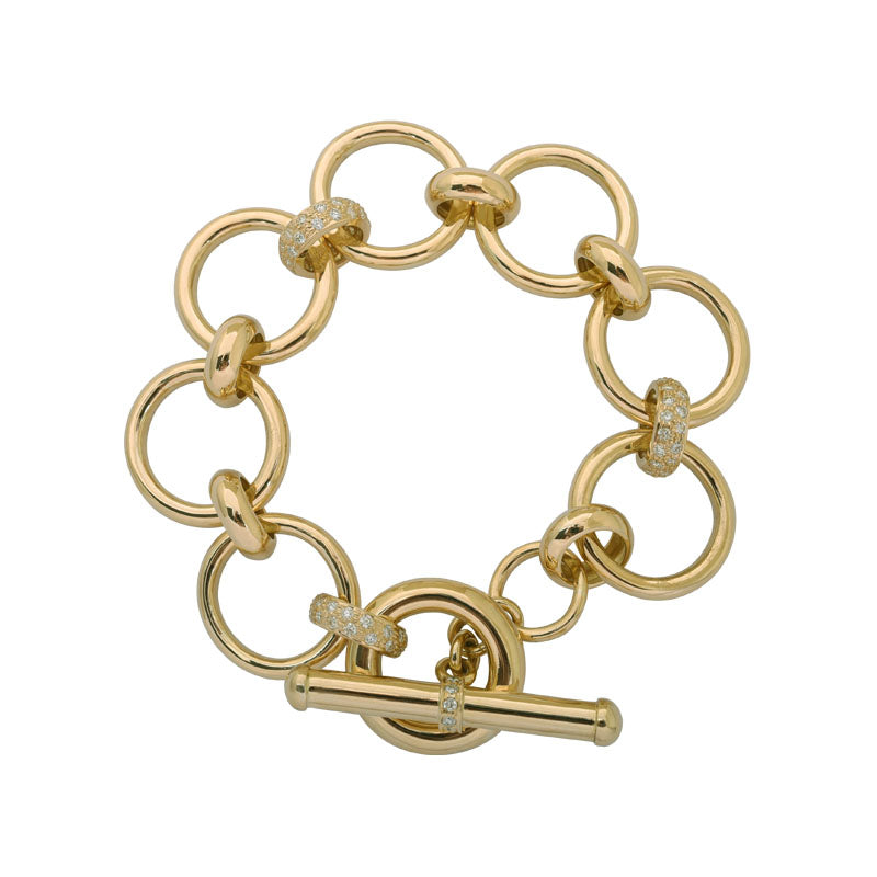 Toggle Bracelet-Diamond
