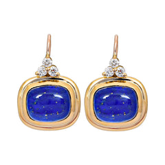 Earrings- Lapis Lazuli and Diamond