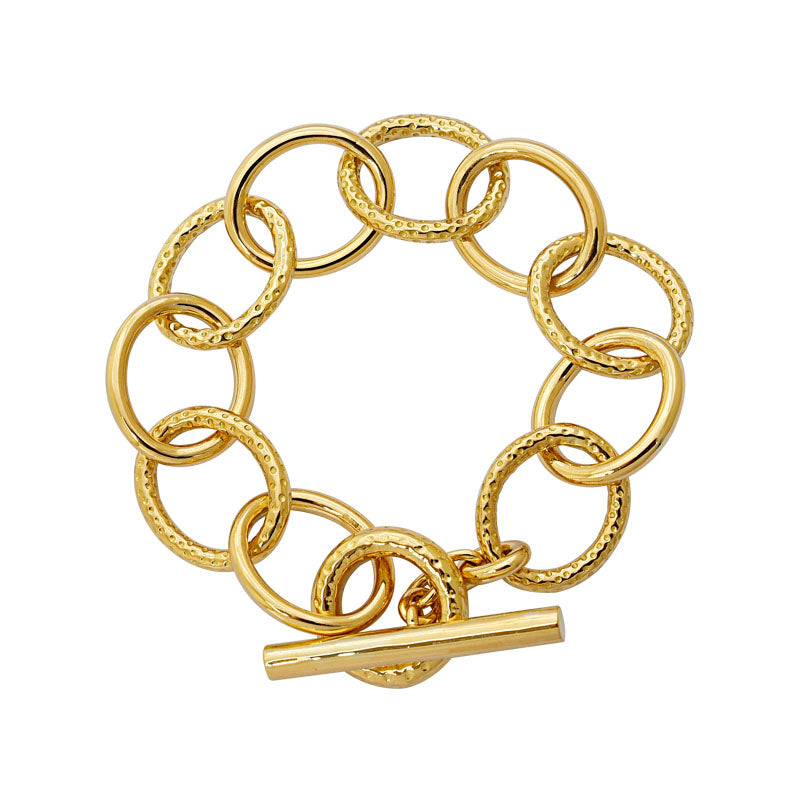 Toggle Bracelet- Plain Gold