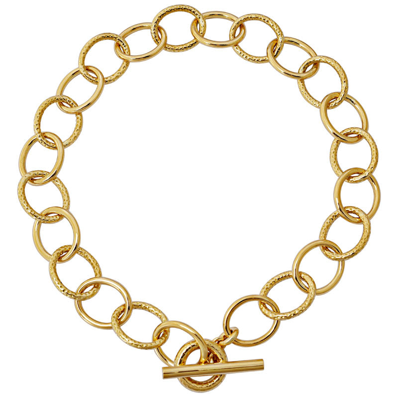 Toggle Necklace- Plain Gold