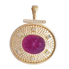 Pendant- Rubellite and Diamond