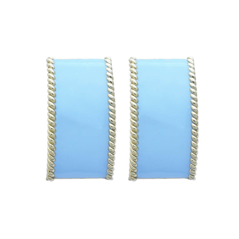 EARRINGS - (ENAMEL) - 18K GOLD
