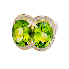 Ring- Peridot and Diamond
