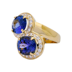 Ring- Tanzanite and Diamond