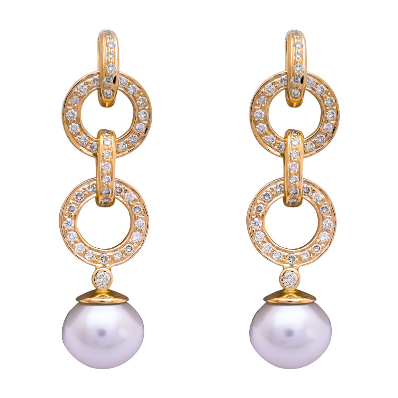 Earrings- South Sea Pearl and Diamond