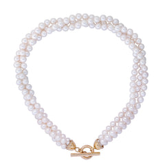 Neckbeads- Pearl Beads with Diamond Toggle