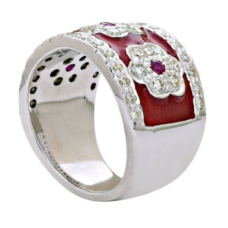 Ring-Ruby and Diamond (Enamel)