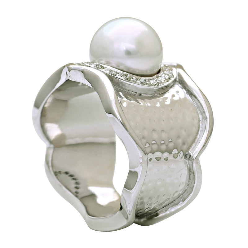 Ring-South Sea Pearl and Diamond
