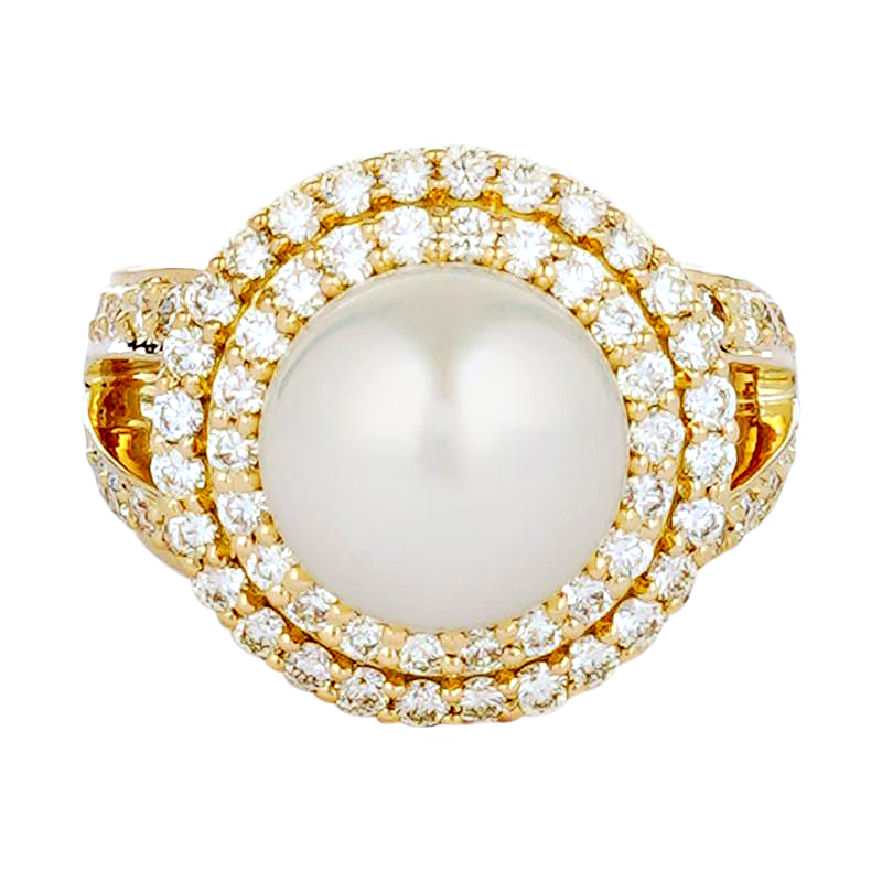 Ring - South Sea Pearl and Diamond