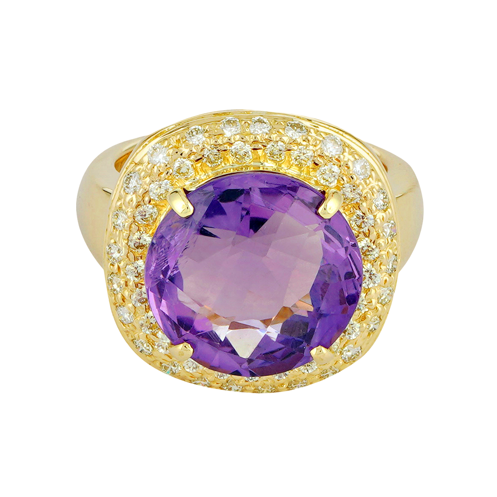 Ring - Amethyst and Diamond