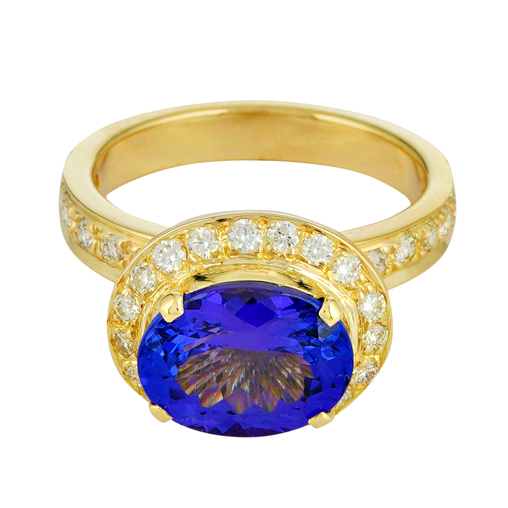 Ring - Tanzanite and Diamond