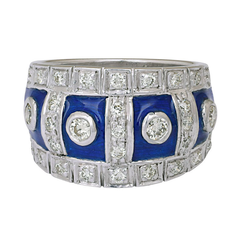 Ring- Diamond (Enamel)