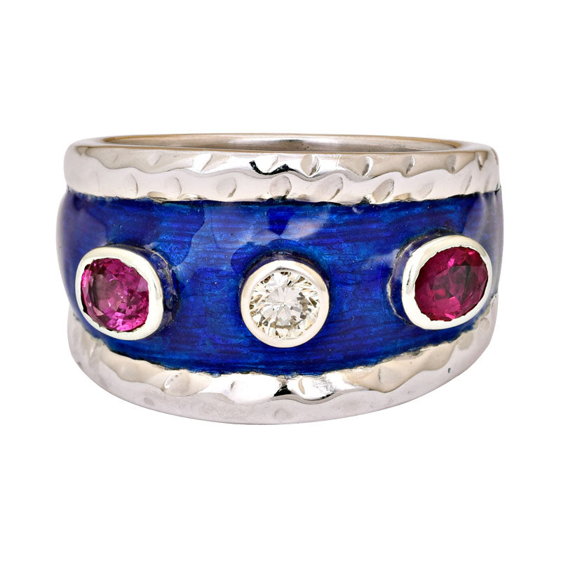 Ring- Ruby and Diamond (Enamel)