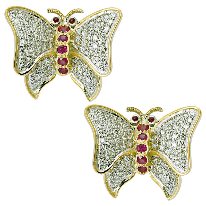Earrings- Ruby and Diamond