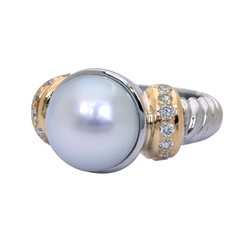 Ring- South Sea Pearl and Diamond