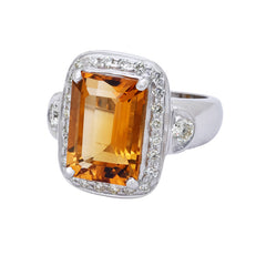 Ring- Citrine and Diamond