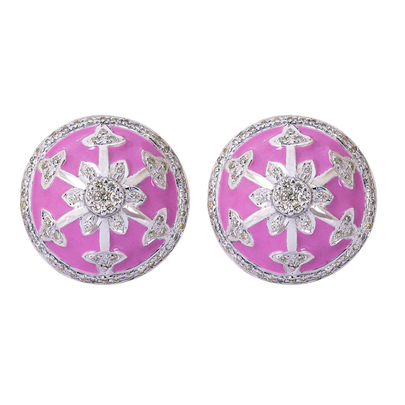Earrings- Diamond (Enamel)