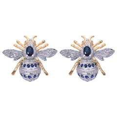 Earrings- Blue Sapphire and Diamond