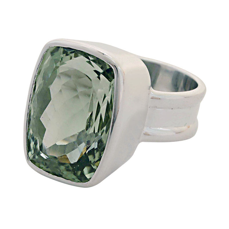 Ring-Green Quartz