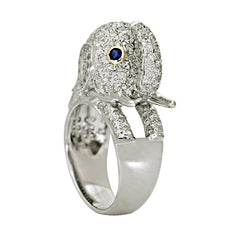 Ring- Blue Sapphire and Diamond