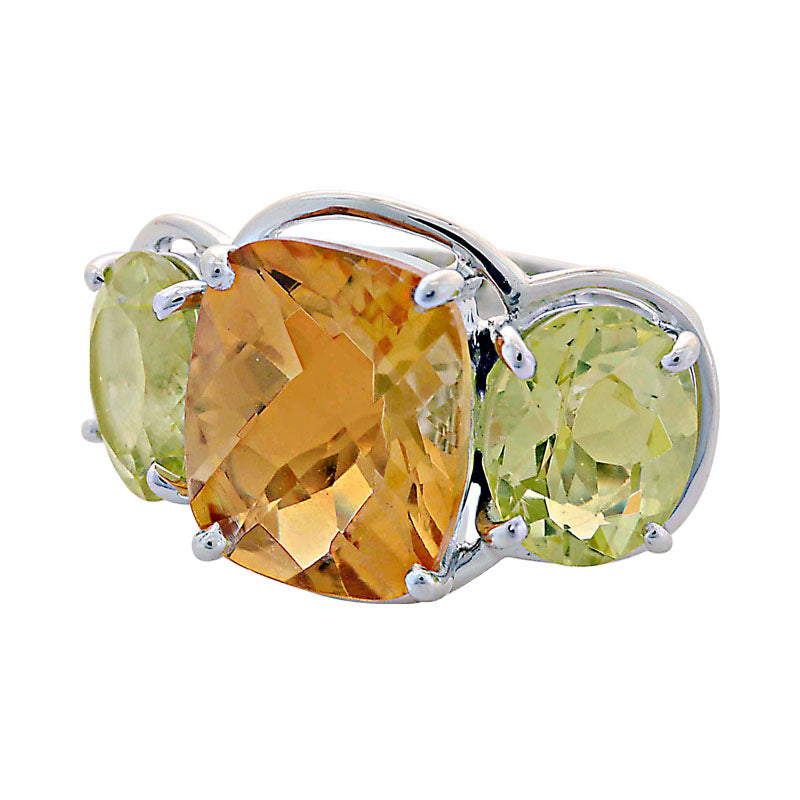 Ring-Citrine and Lemon Quartz