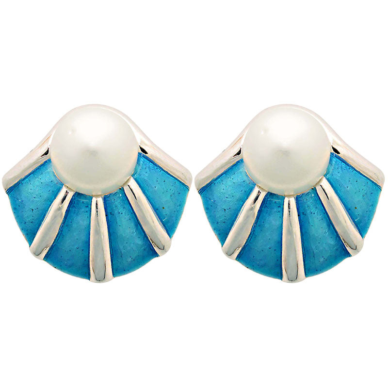 Earrings-South Sea Pearl (Enamel)