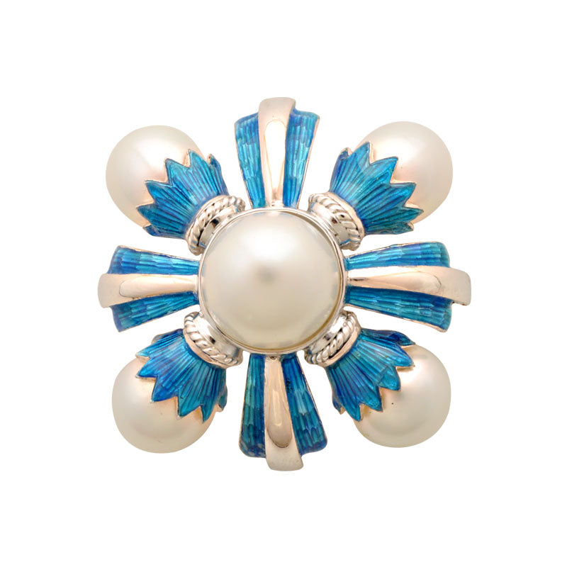 Brooch-South Sea Pearl (Enamel)