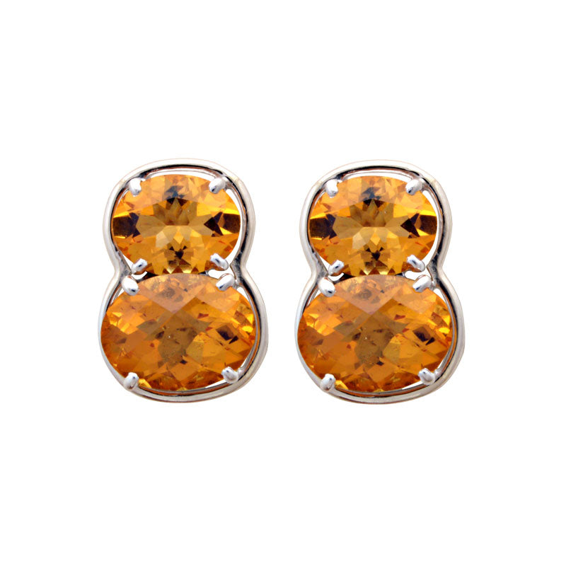 Earrings-Citrine