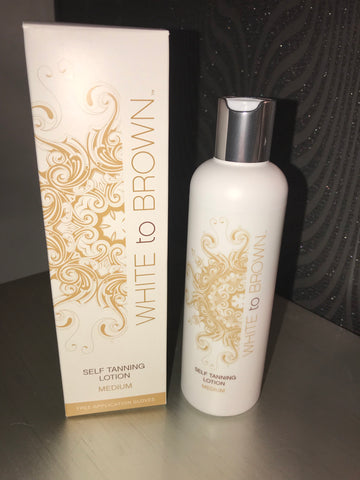 e32a3b1c2b4 White To Brown Self Tan Lotion Medium 250ml – Beauty Box Boutique