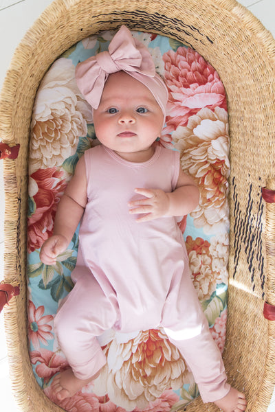 LIMITED EDITION: Organic Harem Romper - Pink Rose
