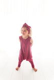 LIMITED EDITION: Organic Harem Romper - Berry
