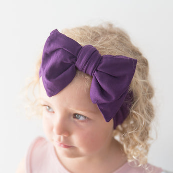 Organic Oversized Bow Headband - Acai
