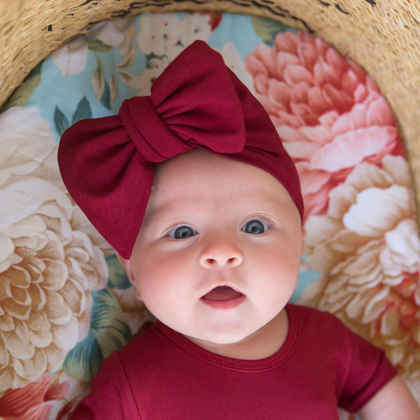 Alaska Bow Headband - Plum