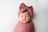 Organic Oversized Bow Headband - Bloom