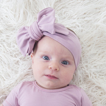 Alaska Bow Headband - Dusty Rose
