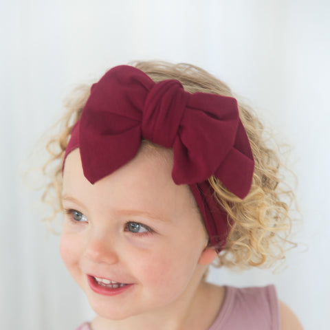 The Alaska Bow Headband - Plum