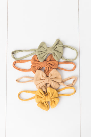 Organic Cotton Small Bow Headband - Little Girls Size