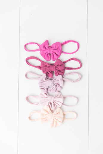 Organic Cotton Small Bow Headband - Newborn