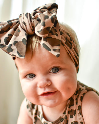 Leopard Oversized Bow Headband
