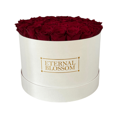 Classic Collection - Extra Large Round Blossom Box - Year Lasting Infinity Roses-Eternal Blossom - Year Lasting Infinity Roses