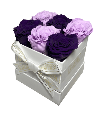 6 Piece Blossom Box - Bespokely Arranged-Eternal Blossom - Year Lasting Infinity Roses